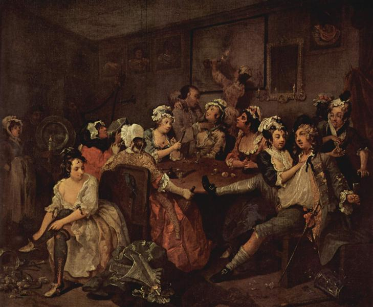 Scene in a tavern, 1732 - 1735 - William Hogarth