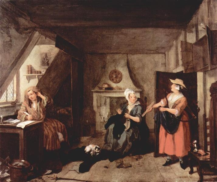 The Distrest Poet, 1729 - 1736 - William Hogarth