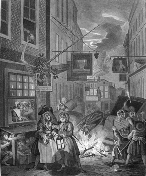 The Four Times of Day: Night, 1736 - William Hogarth