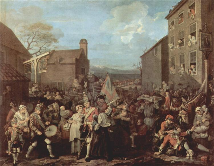 The March of the Guards to Finchley, 1750 - William Hogarth