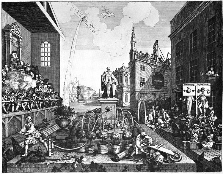 The Times, plate 2, 1762 - 1763 - William Hogarth