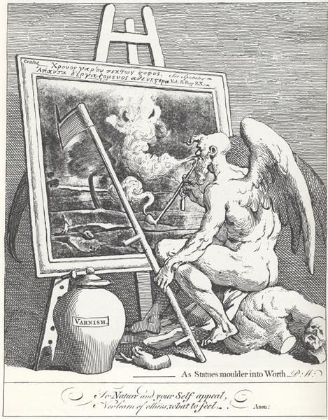 Time smoking a picture - William Hogarth
