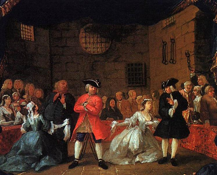 A Scene from the Beggar's Opera, 1728 - 1729 - William Hogarth
