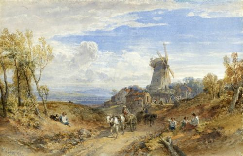 A Windmill by a Country Road, 1856 - William Leighton Leitch