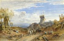 A Windmill by a Country Road - Вільям Лейтон Лейтч