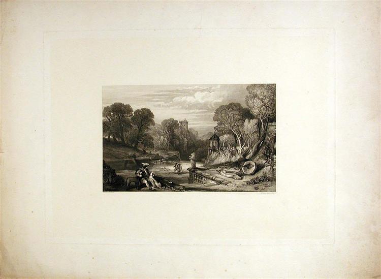 Scottish Romantic Landscape, 1841 - William Leighton Leitch