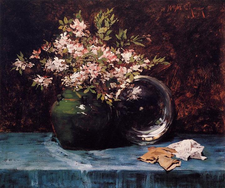 Azaleas, c.1882 - William Merritt Chase