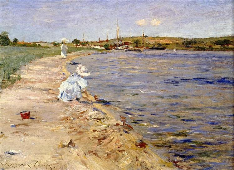Beach Scene - Morning at Canoe Place, 1896 - William Merritt Chase