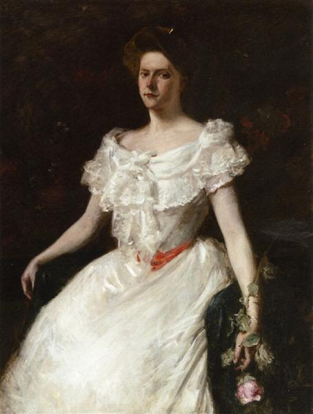 Lady with a Rose, c.1901 - William Merritt Chase