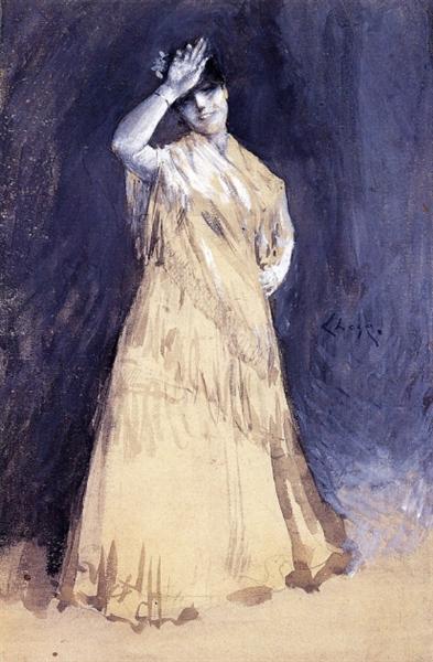 Mrs. Chase as the Señorita, c.1886 - William Merritt Chase