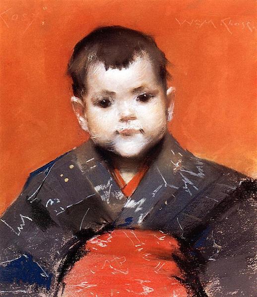 My Baby (Cosy), c.1888 - William Merritt Chase