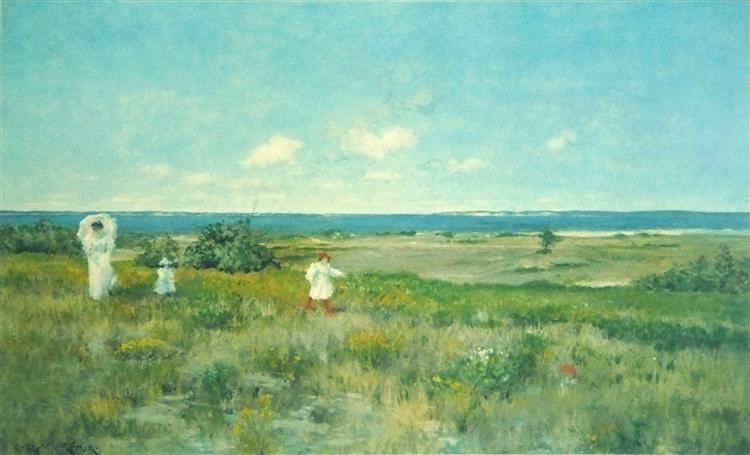 Near the beach, Shinnecock, c.1895 - William Merritt Chase