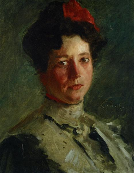 Portrait of Martha Walter, 1908 - William Merritt Chase
