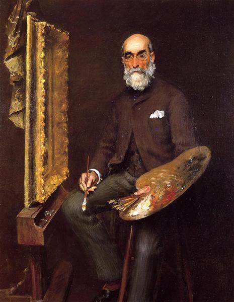 Portrait of Worthington Whittredge, c.1890 - William Merritt Chase
