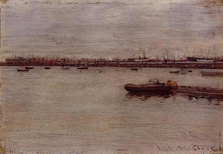 Repair Docks, Gowanus Pier, 1888 - William Merritt Chase