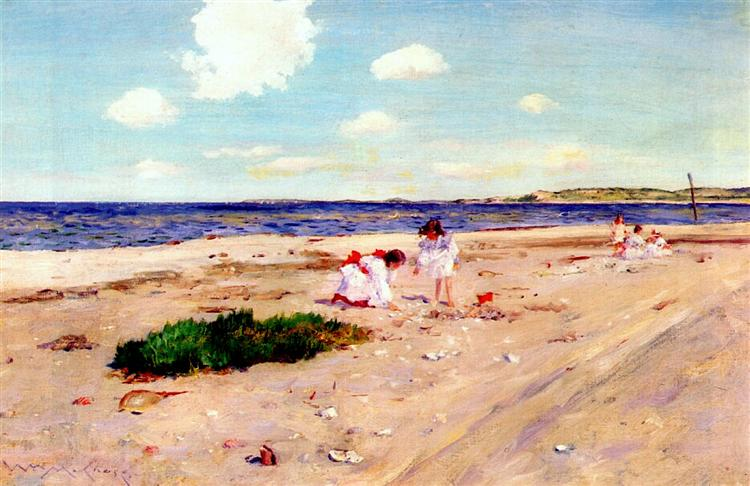 Shell Beach at Shinnecock, c.1892 - William Merritt Chase