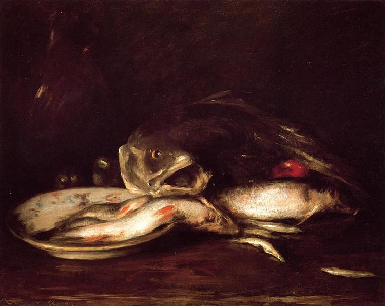 Still Life with Fish, 1905 - 1915 - William Merritt Chase