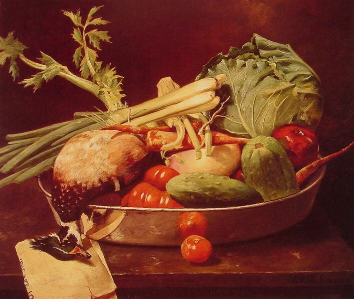 Still Life with Vegetable, 1870 - William Merritt Chase