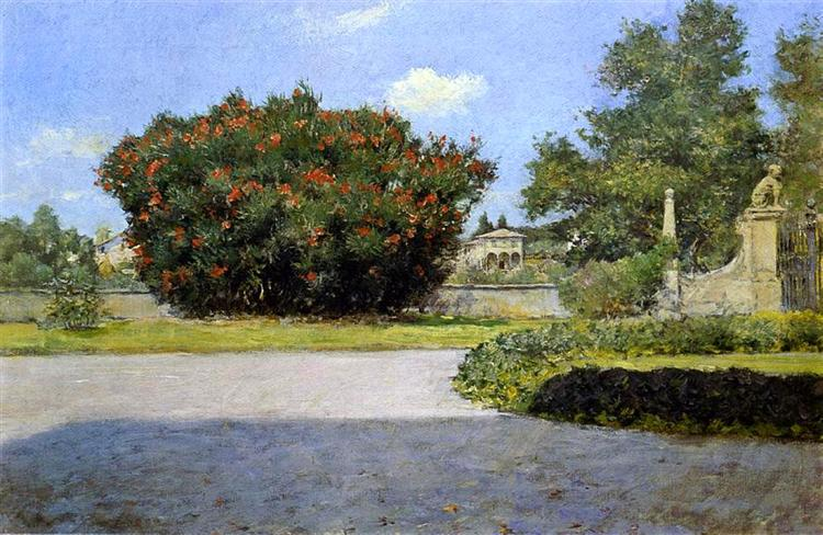 The Big Oleander, 1907 - William Merritt Chase