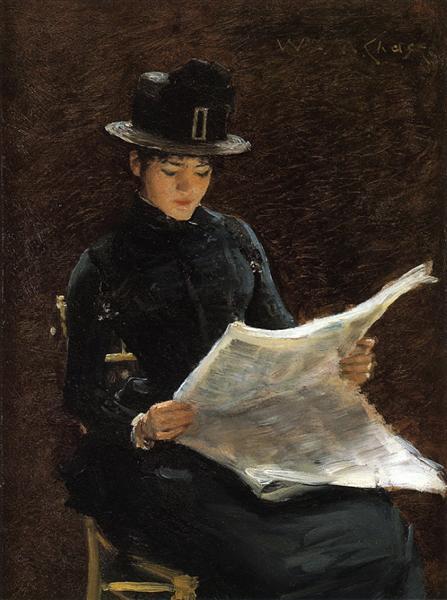 The Morning News, c.1886 - William Merritt Chase