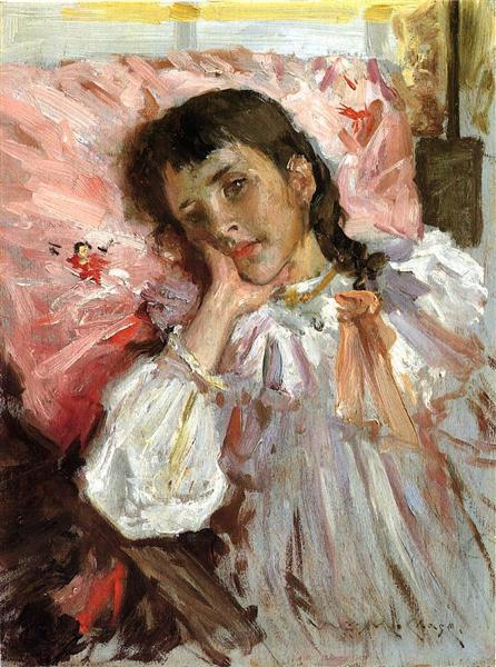 Tired, aka Portrait of the Artist's Daughter, c.1894 - William Merritt Chase