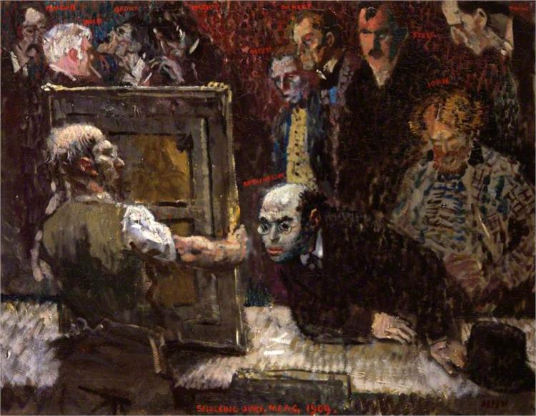 The Selecting Jury of the New English Art Club, 1909 - William Orpen
