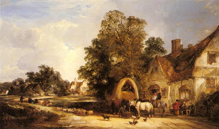 The Half Way House, Thatcham, 1848 - William Shayer