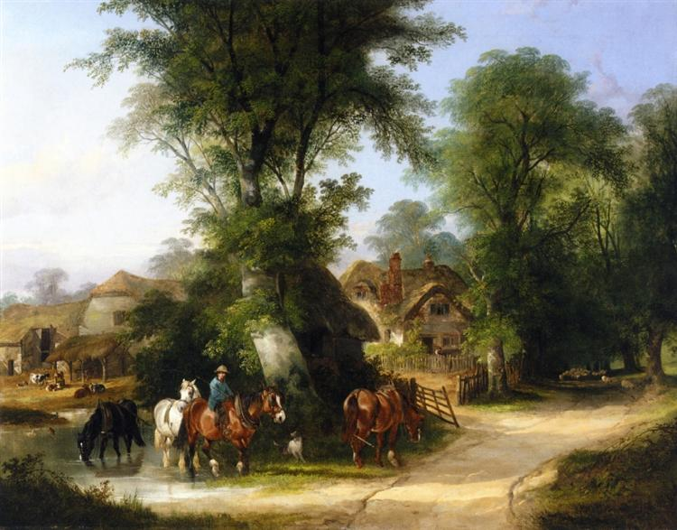 The Watering Place, 1864 - William Shayer