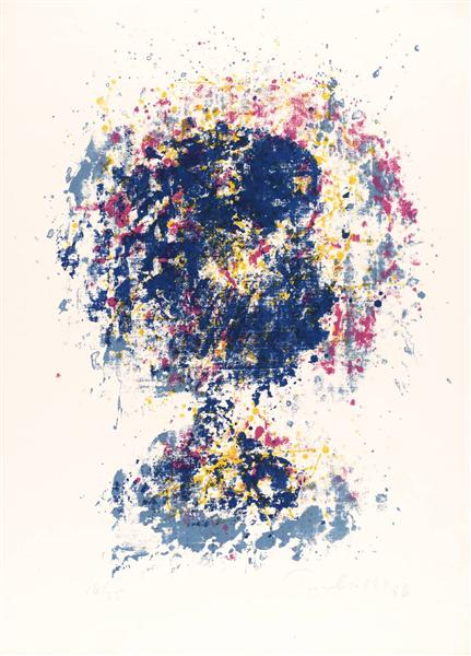 Head Blue/Yellow, 1956 - William Turnbull