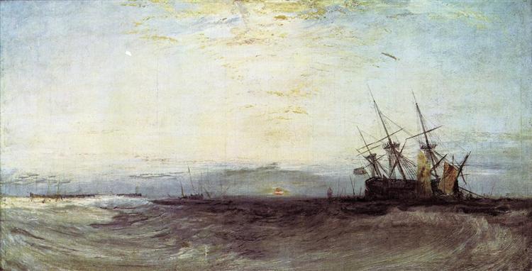 A Ship Aground, c.1828 - J.M.W. Turner