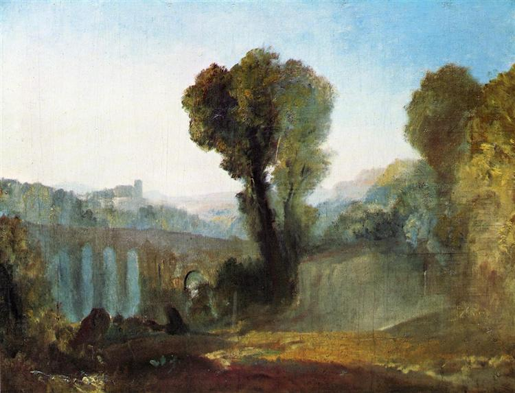 Ariccia Sunset, c.1828 - J.M.W. Turner
