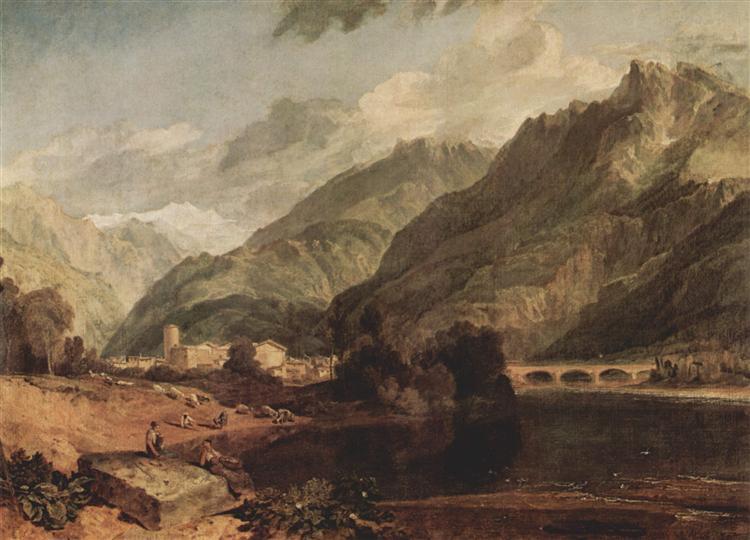 Bonneville, Savoy with Mont Blanc, 1803 - J.M.W. Turner