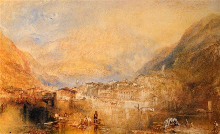 Brunnen, from the Lake of Lucerne, 1845 - J.M.W. Turner