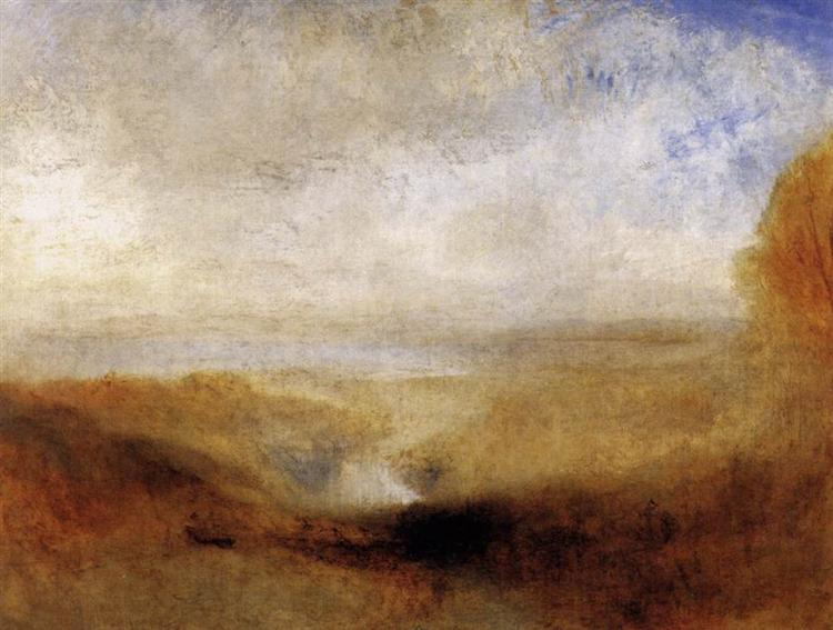 Landscape with a River and a Bay in the Background, 1835 - J.M.W. Turner