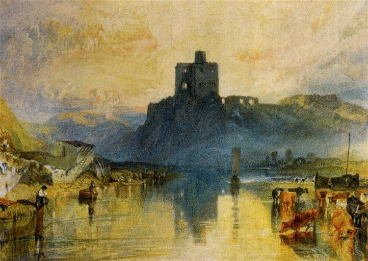 Norham Castle, on the River Tweed, 1823 - Уильям Тёрнер