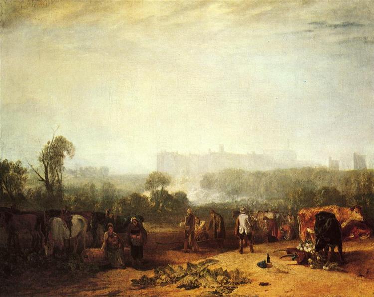 Ploughing up Turnips, near Slough, 1809 - J.M.W. Turner