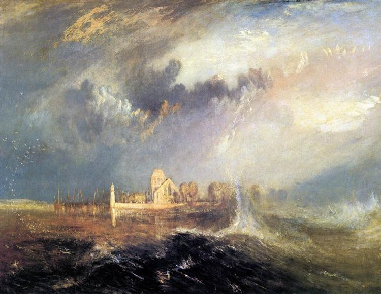 Quillebeuf, at the Mouth of Seine, 1833 - William Turner