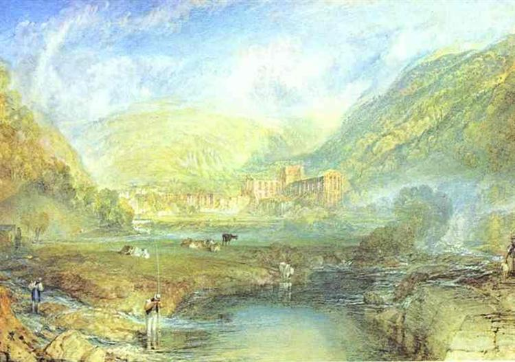 Rievaulx Abbey, Yorkshire, c.1825 - J.M.W. Turner