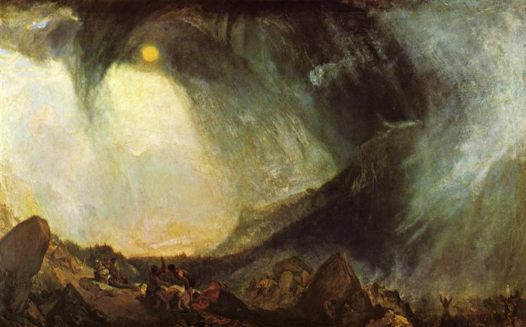 Snow Storm, Hannibal and His Army Crossing the Alps, c.1812 - J.M.W. Turner