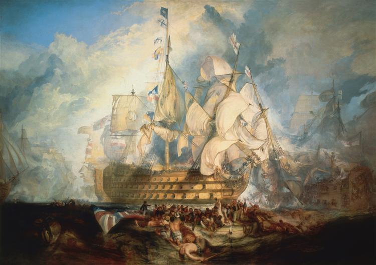 The Battle of Trafalgar - J.M.W. Turner