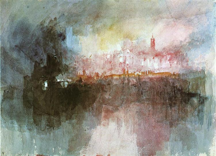 The Burning of the Houses of Parliament, 1834 - J.M.W. Turner