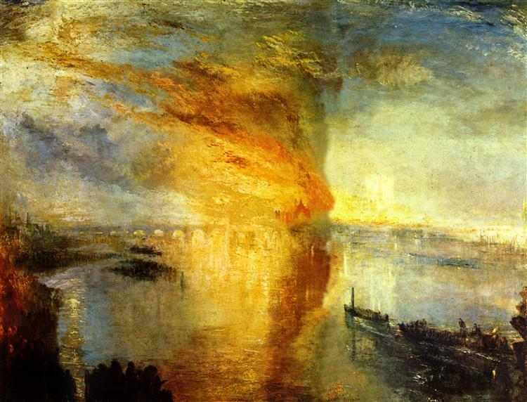 The Burning of the Houses of Parliament, 1835 - William Turner