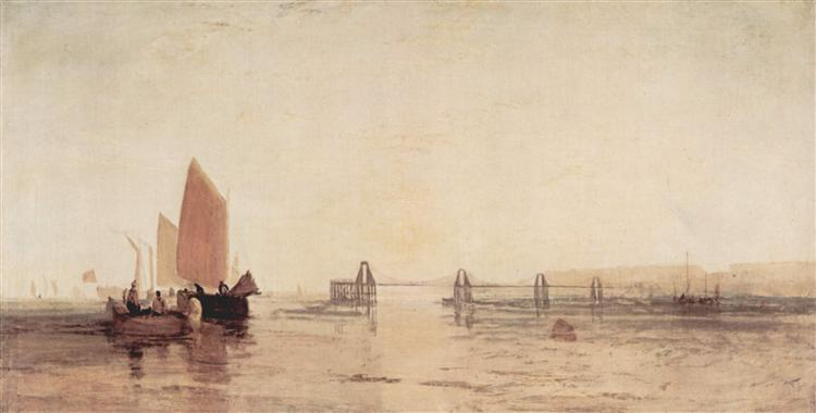 The Chain Pier, Brighton, c.1828 - J.M.W. Turner