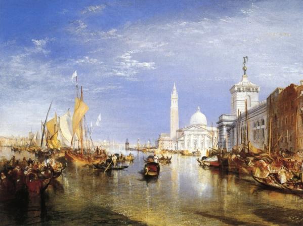 Venice, The Dogana and San Giorgio Maggiore, 1834 - Уильям Тёрнер
