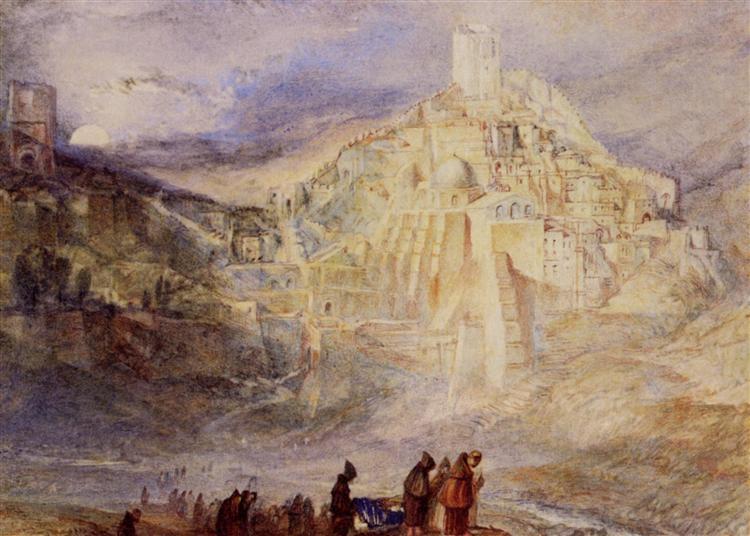 Wilderness A Engedi & Convent of Santa Saba - Joseph Mallord William Turner