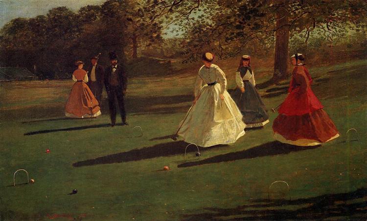 Croquet Players, 1865 - Winslow Homer