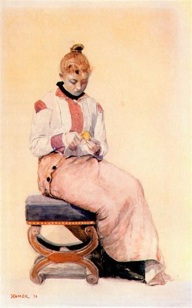 Peeling a lemon, 1876 - Вінслов Гомер