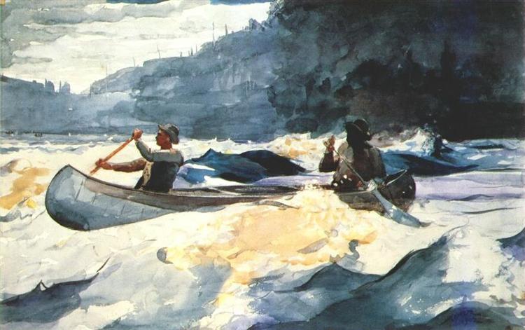Shooting the Rapids, 1902 - Уинслоу Хомер