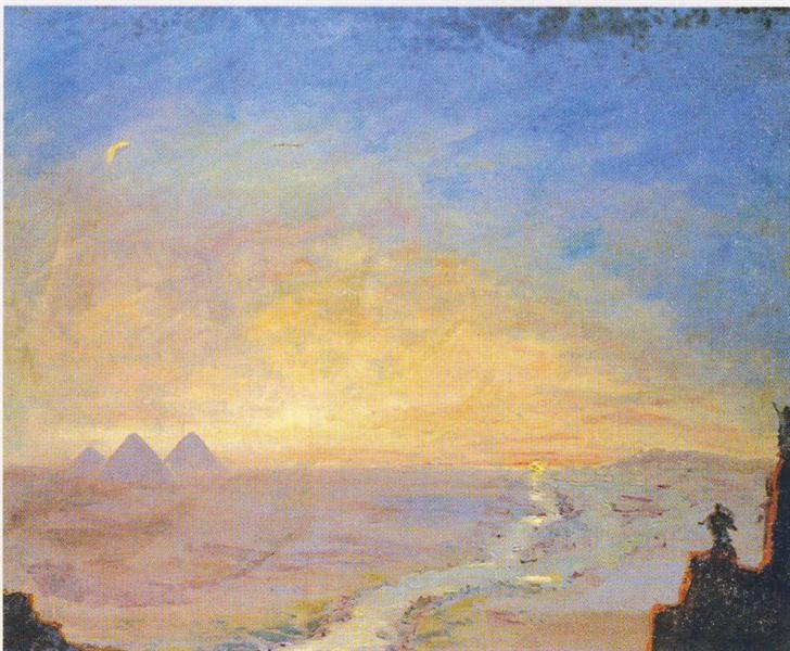 Distant View of the Pyramids, 1921 - 温斯顿·丘吉尔