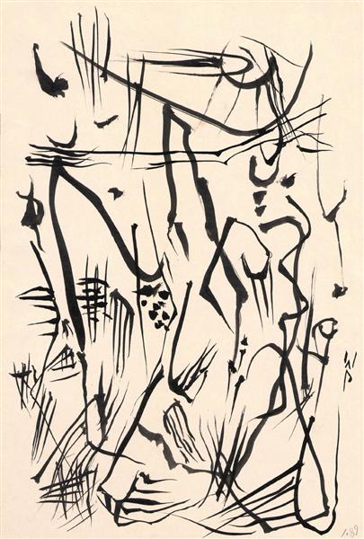 Untitled (Automatic Drawing), 1950 - Wolfgang Paalen